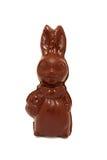 De Paashaas van de chocolade Geïsoleerd op wit Stock Foto's