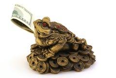 De Pad van het Geld van Shui van Feng met honderd dollars Royalty-vrije Stock Foto's