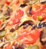 De paddestoelen en de groente van de pizza Royalty-vrije Stock Foto's