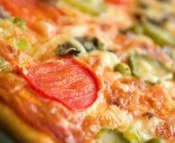 De paddestoelen en de groente van de pizza Stock Afbeelding