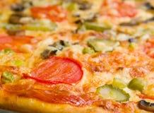 De paddestoelen en de groente van de pizza Royalty-vrije Stock Afbeeldingen
