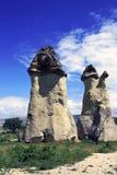 De paddestoelen van de steen in Cappadocia Stock Foto's