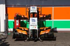 De paddock van de krachtindia van Formule 1 - F1 Foto's Royalty-vrije Stock Foto's