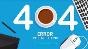 de pagina gevonden niet van de 404 bureaufout vlak vectorontwerp stock illustratie