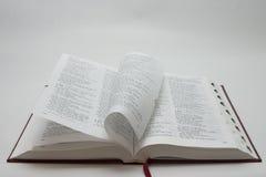 De pagina's van de bijbel stock foto's
