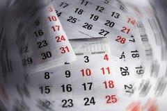 De Pagina's van de kalender Royalty-vrije Stock Afbeeldingen
