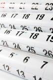 De Pagina's van de kalender Stock Afbeeldingen