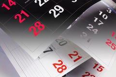 De Pagina's van de kalender Royalty-vrije Stock Afbeelding