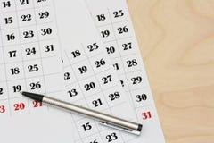 De pagina's van de kalender Stock Foto's