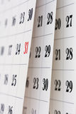 De pagina's van de kalender Stock Foto
