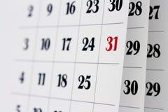 De pagina's van de kalender Stock Fotografie