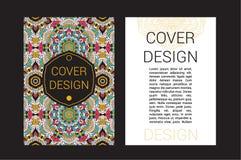 De pagina's van de Ramadanbrochure sieren vectorillustratie decoratieve retro kaart voor druk of Webontwerp Stock Foto's
