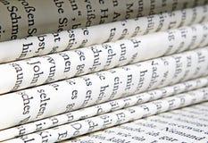 De pagina's van het boek Stock Afbeeldingen