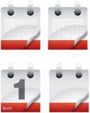 De pagina's van het kalenderpictogram Stock Afbeelding