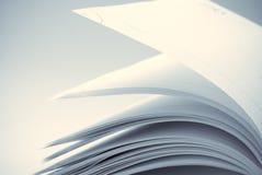De pagina's van het notitieboekje stock afbeeldingen