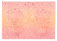 De pagina's van het paspoort Royalty-vrije Stock Foto's