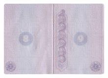 De pagina's van het paspoort Stock Foto