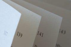 De pagina'sclose-up van het boek Stock Foto's