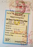 De pagina van de close-up van paspoort Royalty-vrije Stock Afbeeldingen
