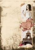 De pagina van de het albumbruid van Grunge Royalty-vrije Stock Afbeelding
