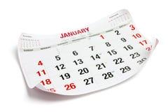 De Pagina van de kalender royalty-vrije stock afbeeldingen