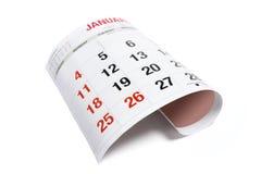 De Pagina van de kalender Royalty-vrije Stock Afbeelding