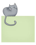 De pagina van de kat stock illustratie