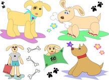 De Pagina van de Mengeling van de hond Stock Foto's