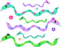 De Pagina van de mengeling van Slangen Stock Fotografie