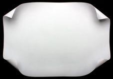 De pagina van het document met krul Stock Afbeeldingen