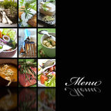 De pagina van het menu Royalty-vrije Stock Afbeeldingen