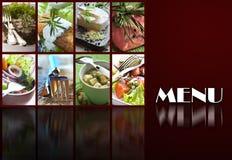 De pagina van het menu Royalty-vrije Stock Afbeelding