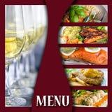 De pagina van het menu Royalty-vrije Stock Foto