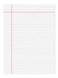 De pagina van het notitieboekje Stock Foto's