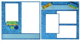 De Pagina van het Plakboek van de Pret van de Pool van de zomer Royalty-vrije Stock Foto