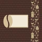 De Pagina van koffiebaen Stock Foto