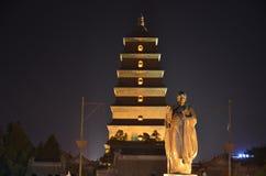 De Pagode Boeddhistische Historische Gebouwen van de Xi'an Grote Wilde Gans stock afbeelding