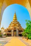De pagode in de Tempel van Wat Phra That Pha Son Kaew Stock Fotografie