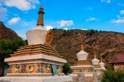 De pagode onder de blauwe hemel Royalty-vrije Stock Afbeeldingen
