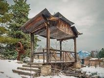 De pagode van de berg in de winter Stock Afbeelding