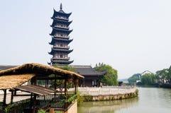De pagode van de rivieroever Royalty-vrije Stock Foto