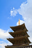 De Pagode van de Tempel van Neungsa in Korea Stock Afbeelding