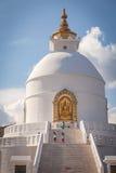 De pagode van de wereldvrede - Pokhara, Nepal Stock Foto's