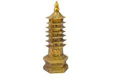 De pagode van Fengshui op witte achtergrond wordt geïsoleerd die Royalty-vrije Stock Fotografie