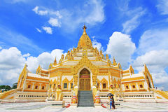 De Pagode van het de Tandoverblijfsel van Boedha, Yangon, Myanmar Royalty-vrije Stock Afbeeldingen