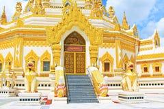 De Pagode van het de Tandoverblijfsel van Boedha, Yangon, Myanmar Stock Foto