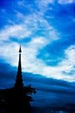 De pagode van het silhouet Stock Foto