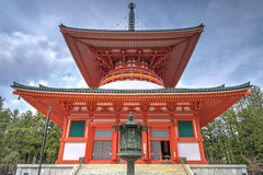 De pagode van Konpondaito in de heilige plaats van Danjogaran, Japan Stock Afbeeldingen