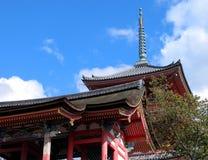 De pagode van Kyomizudera Royalty-vrije Stock Afbeeldingen