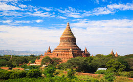 De pagode van Mingalazedi, Bagan, Myanmar Stock Foto's